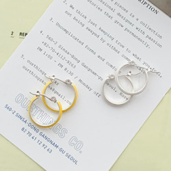 MELTING HOOP EARRING
