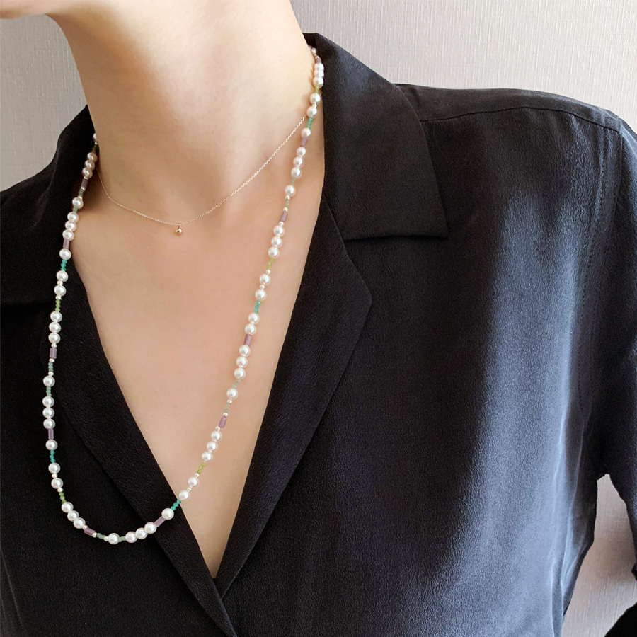 LAYERED TASTE PEARL NECKLACEREVISITED